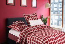 Rojo Vivo / Decoración de interior hogar con tonos rojos