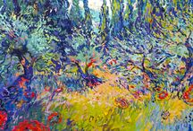 """Dmitri Wright / http://www.sorellegallery.com/wright/ """"In Landscapes of Light through Color I look towards capturing those transcendent musical elements of light within nature, to express its reflective beauty and underlying mystical reality through color and form."""""""