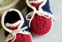 zapatos de bebe a crochet / baby shoes
