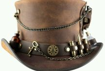 Leather top hat and others