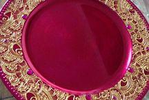 henna candle design