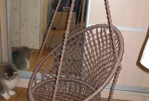 macrame (hanging) chair