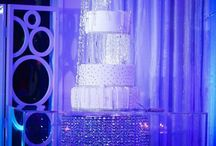 Bling Cake Tables by Tiffany Cook of Tiffany Cook Events / A collection of our Dream Designed cake tables, Created by the Dream Design team at Tiffany Cook Events. For more Decor ideas, check out tiffanycookevents.com