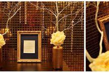 Gold & Navy Wedding