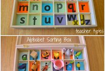 Alphabet / Great ideas for learning the alphabet.