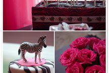 Zebra print birthday ideas