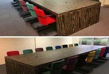 Inrichtingen kantoor / Een selectie van opgeleverde inrichtingen door Multi Ratio B.V. Een mooie combi van zowel nieuw als gebruikt meubilair.