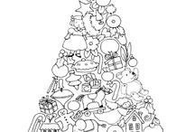 vánoční omalovánky
