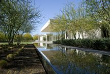 """Sunnylands Center @ Annenberg Retreat / Sunnylands is the 200-acre winter retreat of publisher and philanthropist Walter and Leonore Annenberg in Rancho Mirage, designed in 1964 by A.Q. Jones with interior decoration by William Haines.  Designed by FFP with Mrs. Annenberg, the new Sunnylands Visitors Center & Gardens complements the historic estate, accommodates prominent retreats, and functions as the """"Camp David of the West"""" hosting guests such as President Barack Obama and high level heads of state."""