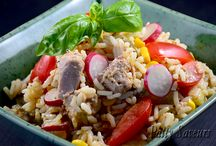 Side Dishes - Mixed Salads / Mixed salads made with veggies and meat or fish