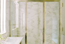 Polished Nickel Shower Door