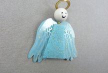 ANGES DE SOIE / anges de soie, magnets ou à suspendre