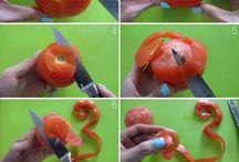 Sculpture sur fruit , legume