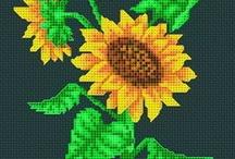 Cross stich - Sunflower