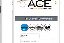 ACE 'Mobile Estimate' App / Did you COLLIDE?  DENTed your ride?  Not to worry. Say hello to the Auto Collision Experts (ACE) 'Mobile Estimate' App!  Now you can 'Snap & Share' post-accident photos and details directly with ACE.  Save time and get your vehicle back on the road faster with the ACE 'Mobile Estimate' App.