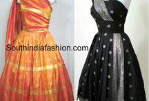 old silk saree frocks
