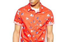 Printed Short Sleeve Shirts for Men