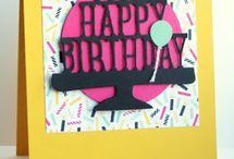 Stampin' Up Party Pop-Up Dies and Party With Cake Stamp Set