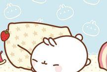 mini bunny/molang / molang is so cute