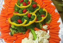 Vassoio vegetariano di Natale