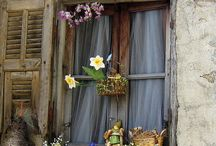 windows, doors,  garden art