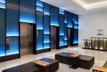 Elevator hall design