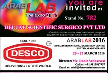 ARAB LAB 2016 / VISIT DESCO INDIA AT ARAB LAB 2016 IN DUBAI INTERNATIONAL EXHIBITION CENTER FROM 20 - 23 MARCH 2016 AT STAND NO. : 782.