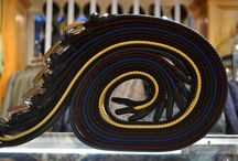 """Italian Men's Woven Elasticated Belts / """"My belt holds my pants up, but the belt loops hold my belt up. So which ones the real hero?"""""""