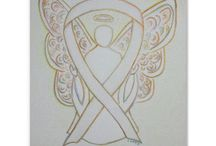 White Awareness Ribbon Support and Art Gifts / The white awareness ribbon color means support for Adoption, Blindness, Bone cancer,  Hope and Support, Lung Cancer, Lung Disease, Anti-Stalking, Anti-War, Holocaust Remembrance, Child Exploitation, Child Sexual Abuse/Assault, Osteoporosis, Postpartum Depression, Retinoblastoma, Victims/Survivors of Terrorism, Scoliosis, and Teen Pregnancy Awareness.   Lung cancer & lung disease originally used a clear ribbon which was later switched to the white.  Let this white ribbon help bring awareness!