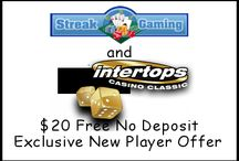 Streak Gaming Exclusives / Exclusive special deals, free spins,free casino cash and promotions with the industries most respected gaming sites. / by Streak Gaming