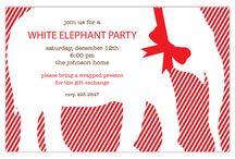 White Elephant Invitations