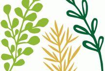 cameo fleurs / arbres, fleurs et feuilles