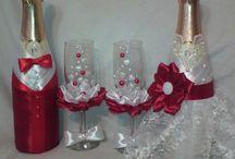 Бутылки свадьба