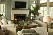 FAMILY room / Family rooms in home with modern classic design