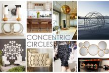 KKDL TRENDWATCH 2016: CONCENTRIC CIRCLES / Enjoy the ebb and flow of simple design with the Concentric Circles 2016 trend featuring -you guessed it- circles. While circular patterns and arrangements are a constant in the design world, Concentric Circles recreates the wheel (literally) using fluid fixtures and innovative product design. The best part about this trend is its use of scale. Circles can be paired to form a metal base of a table or dotted across a canvas to create a work of art. / by Kerrie Kelly Design Lab