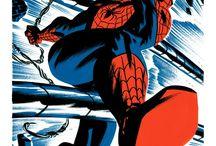 Spiderman / Spider-Man (L'Homme araignée) est un personnage de fiction, super-héros appartenant à l'univers de Marvel Comics. Créé par le scénariste Stan Lee et le dessinateur Steve Ditko, il apparaît pour la première fois dans le comic book Amazing Fantasy #15 en 1962. Le succès de ce numéro permet à Spider-Man d'avoir dès 1963 sa propre série The Amazing Spider-Man. Peter Parker, un jour, à la suite d'une expérience à laquelle il assiste, il est mordu par une araignée radioactive ... / by Monsieur Pop