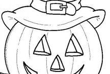 Coloriage Hallowen / Coloriage enfants pour Hallowen