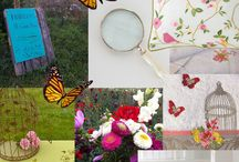 """Planche Tendance """"Bucolique"""" / Rendez-vous bucolique avec la nouvelle collection Bouchara, Coussin #eden, Housse de couette Dina, jardinière en métal blanc, autant de décorations propice à l'évasion florale et à l'authenticité champêtre."""
