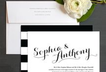 Black and White Wedding / Inspiration for a black and white themed classic wedding.