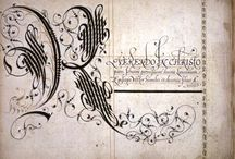 Scribal References / Calligraphy and illumination references from medieval sources.