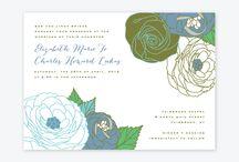 Ferns and Flowers Wedding Inspiration Board