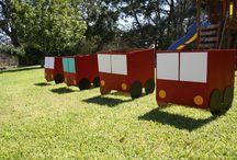 Fire trucks / Cardboard