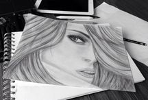 My drawings / My first drawings :)