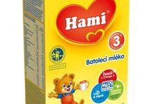 Detská výživa / Na nástenke predstavujeme produkty detskej výživy - batoľacie a kojenecké mlieka Nutrilon, Hami, Sunar, Humana.