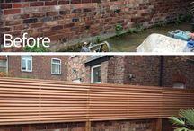 brick house fence