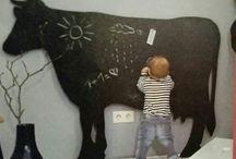 krijtbord koe groot