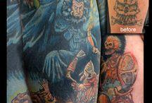 tattoos by Tanya Magdalena / tattoos by Tanya Magdalena at Above the Pearl Tattoo, LLc.