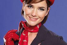 Beautiful stewardess
