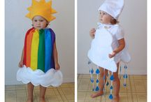 sewing clothes / Rainbow kids costume