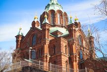 Helsinki's Coolest Churches / In Helsinki, four churches tell the story of Finland's evolution from Swedish territory, to Russian outpost, to an independent nation with one of the highest standards of living in the world. To learn more, check out this post: http://bit.ly/1nH9nA0